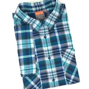 Merrell Opti-Wick Plaid Button Down Shirt *XXL*